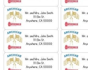 American Household Address Labels-American Household Return Labels-Personalized Return Labels-Customized Return Labels-Personalized Address