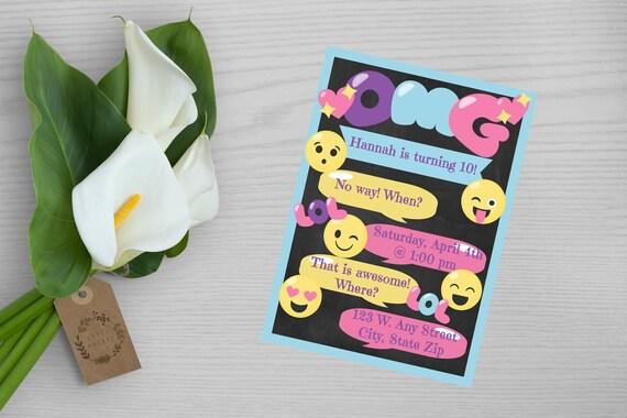 Emoji Themed Birthday Invitation Party