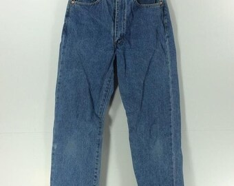 bc7f159f On Sale 40% Vintage Levis Redline Selvedge Denim 701Z LVC Button Fly Zipper  Blue Denim Jeans