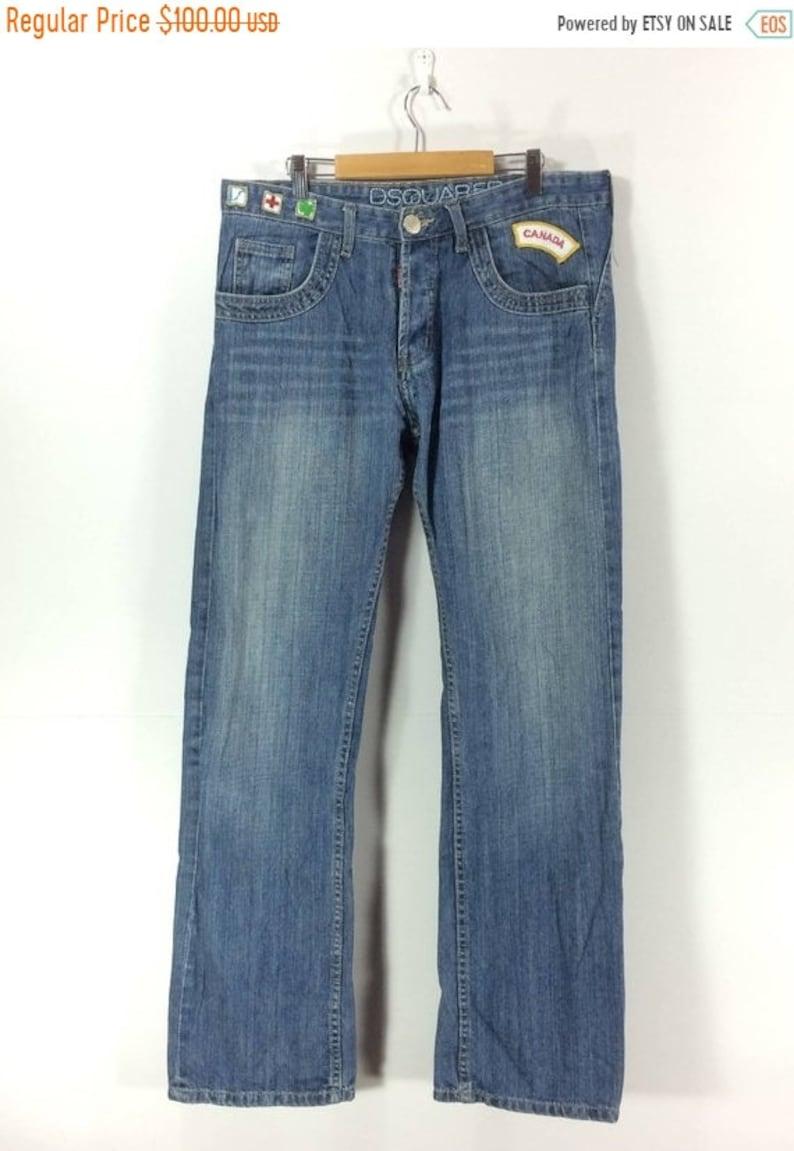 On SALE 30/% Rare DSQUARED 2 Jeans Denim Pants Zipper Jeans Pant Jeans