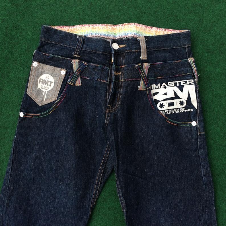 Rare Rimaster Design Pant Jeans Trouser Size 32 Hip HOp 90s Style Jeans