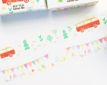 Flag / Go to Journey Washi Tapes - Masking Tape - Japanese Washi Tape - Paper Tape - Decorative Tape - Planner Tape - Scrapbooking Tape