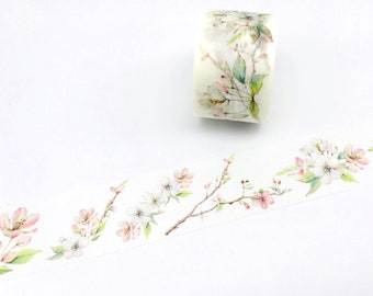 Pear Flower Washi Tapes - Masking Tape - Japanese Washi Tape - Paper tape - Decorative tape - Planner tape - Scrapbooking Tape