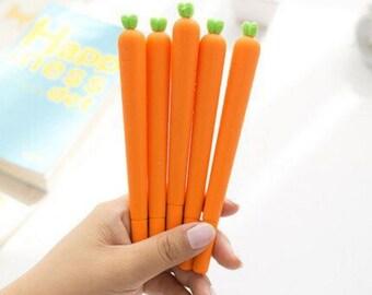 Cute Carrot Gel Pen - Cute Stationery, kawaii pens