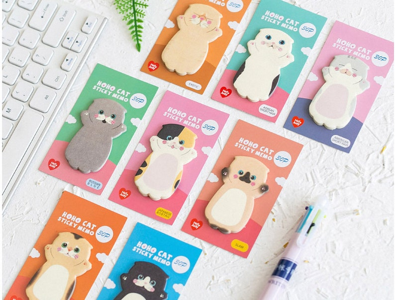 Kawaii Cat Notepads Memo Pad Stickers Reminder Notes Memo Pads
