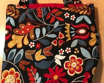 Floral Canvas Market Bag