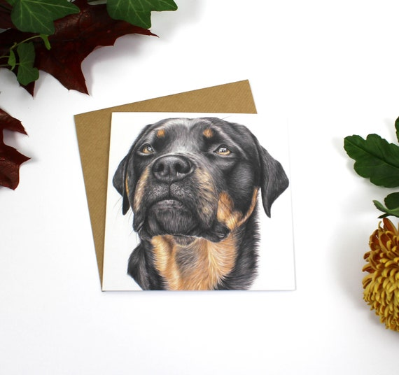 Doris Greeting Card, Greeting Card, Dog, Cards, Birthday Card, Wildlife Art, Rottweiler