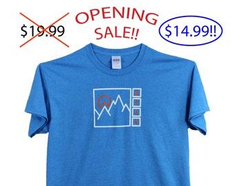 ktsv SALE! mens design heather light blue T-shirt