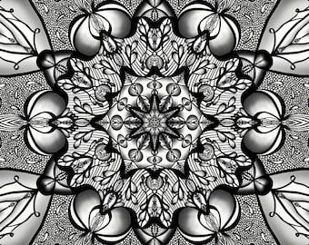 Lace Relaxing Adult Coloring Mandala