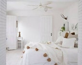 Moroccan pompom blanket King Bed size