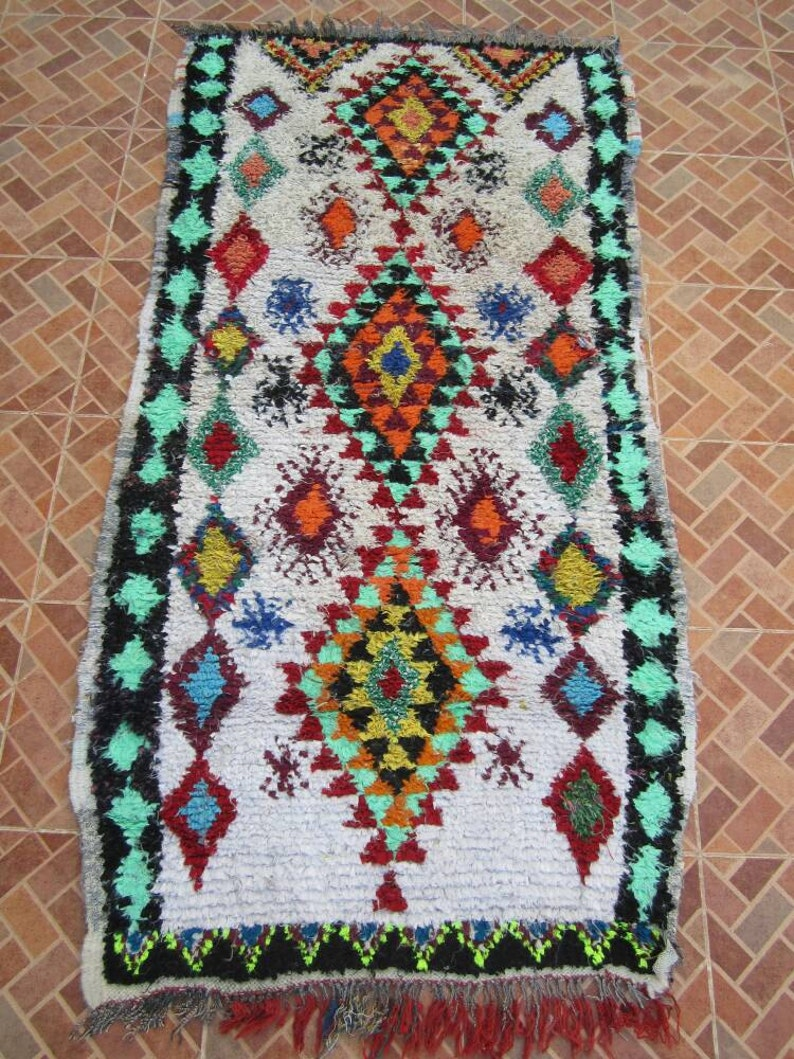 Vintage Boucherouite Moroccan Rug Gives You The Best Look In Etsy