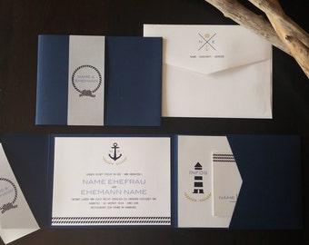 Wedding invitation Maritim