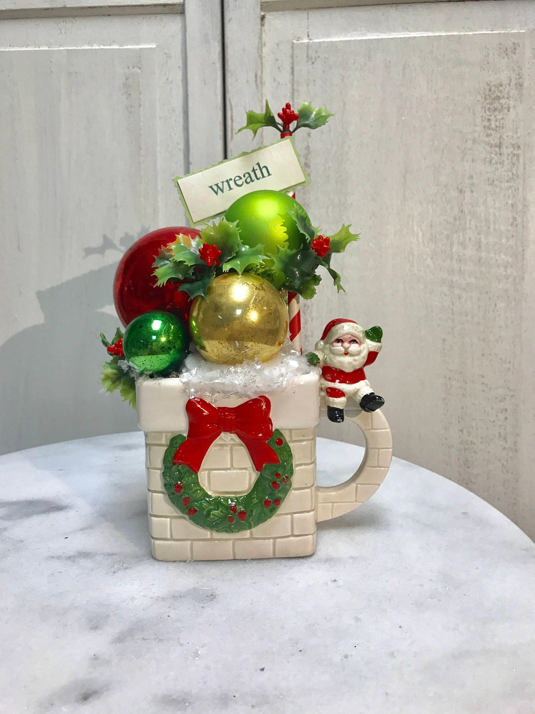 Christmas Centerpiece Vintage Centerpiece Vintage Christmas Etsy
