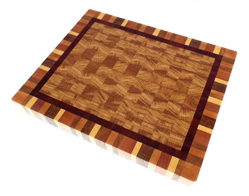 Made from oak sapele Perfect wedding gift! Big End Grain Cutting Board ash maple and cherry end grain cutting board