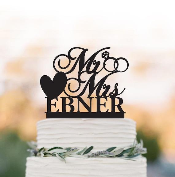 Personalisierte Hochzeitstorte Topper Mr Und Mrs Etsy