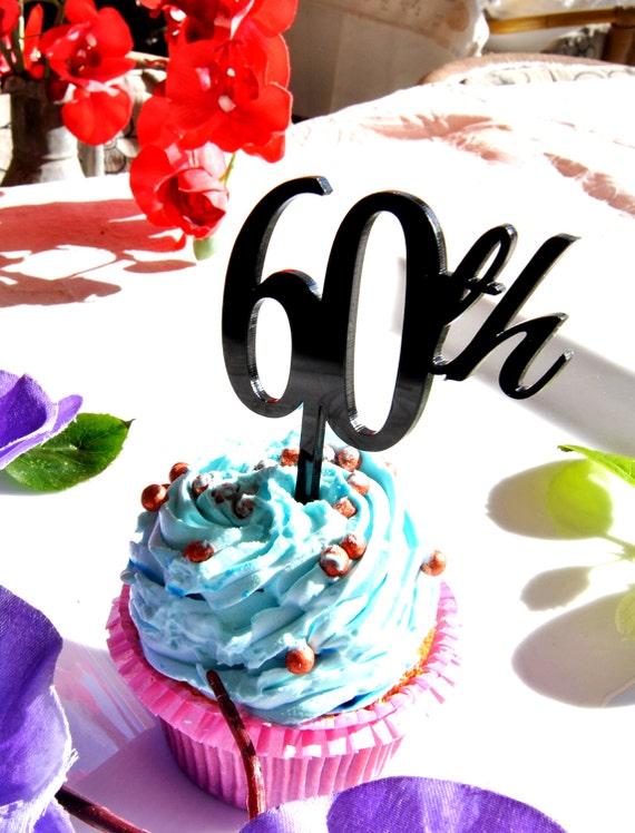 4 Stk Eine Reihe 60 Cupcake Topper Kuchen Dekoration Zum 60 Etsy