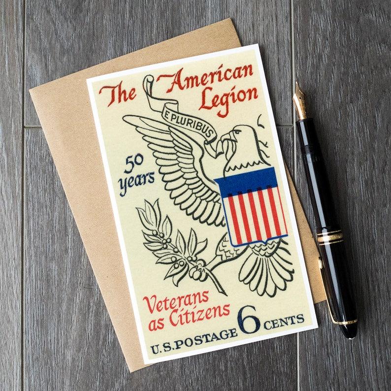 American Legion Birthday Cards US Eagle Greeting