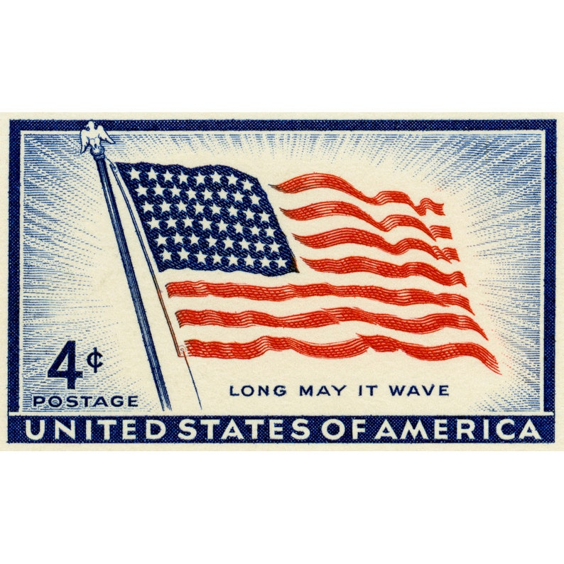 Fourth Of July Cards US Independence Day Old Glory