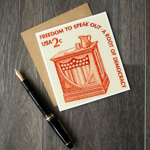 Freedom Of Speech Politician Birthday Cards History