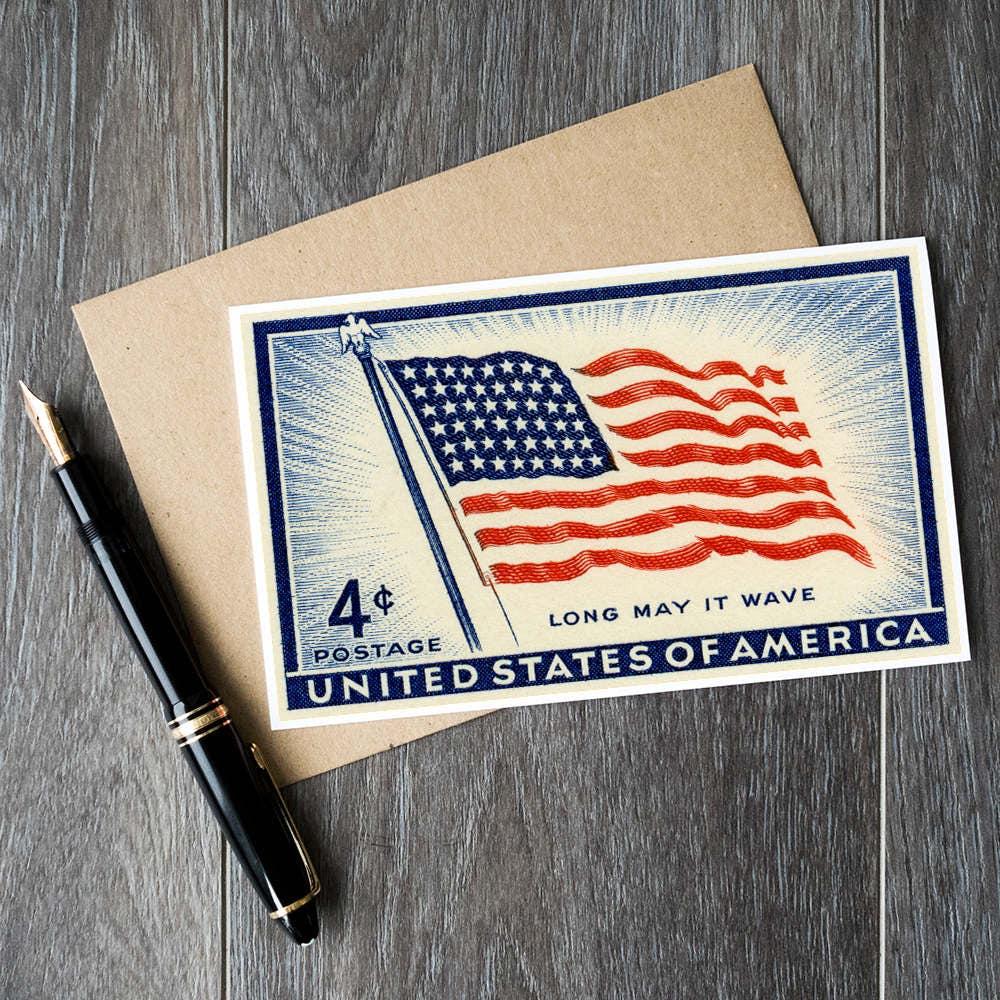 Fourth of july karten uns unabh ngigkeit tageskarten old etsy - Amerikanische weihnachtskarten ...