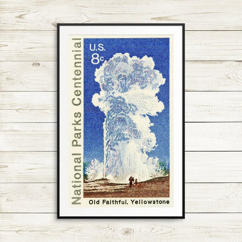 Park Narodowy Yellowstone Plakaty Old Wiernych Parki Narodowe Stany Zjednoczone Yellowstone Park Yellowstone Old Wiernych Old Wiernych
