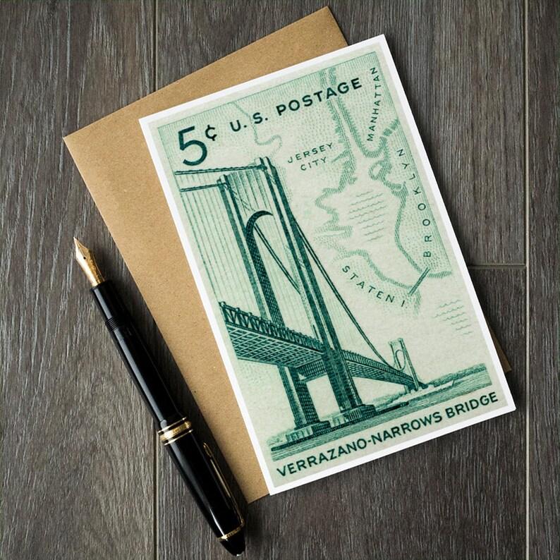 Varrazano Bridge Cards New York City Card Brooklyn Birthday