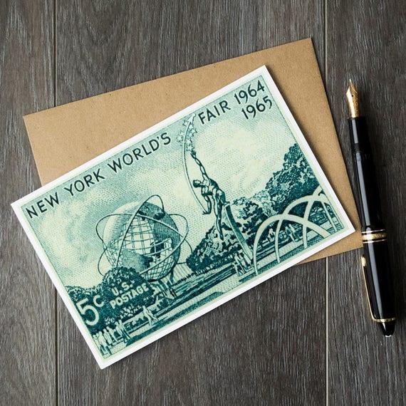 New York Birthday Cards City Worlds Fair NY