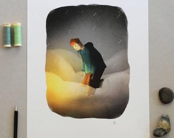 Misty Glow Poster A3 Print