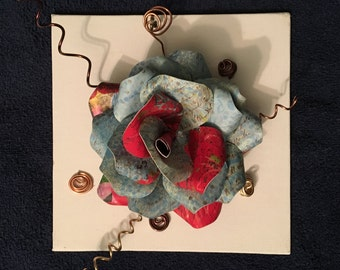 Blue and Red Modern Paper Flower