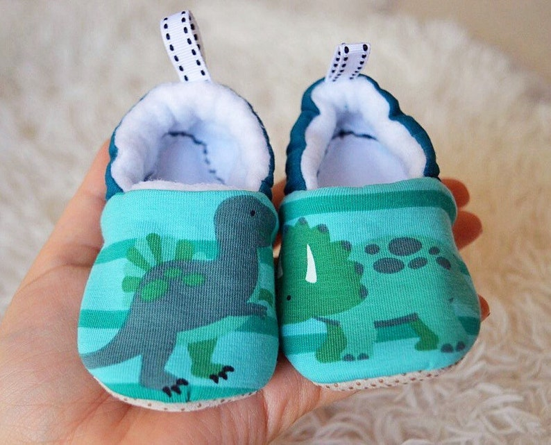 099921296ca07 Baby boy moccasins stay on soft sole dinosaur themed fabric shoes, Unique  baby shower gift, Gift for newborn baby, Gift for boys