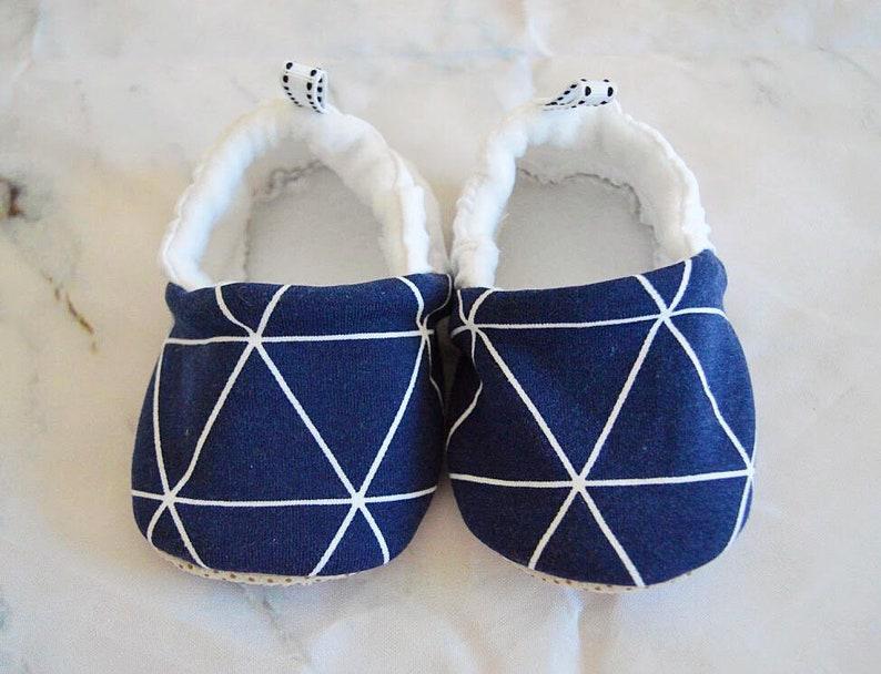 1f01adddbc379 12-18M Baby boy moccasins stay on soft sole fabric shoes, baby shower gift,  newborn baby boy gift