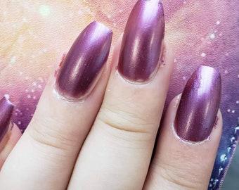 The Grape Depression (purple shimmer nail polish)