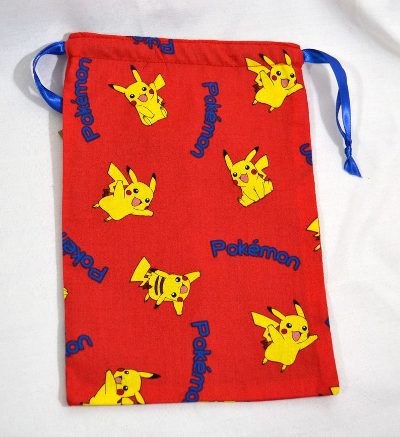 Drawstring Dice Bag or Gift Pouch Fully Lined Poke/'Mon Pikachu