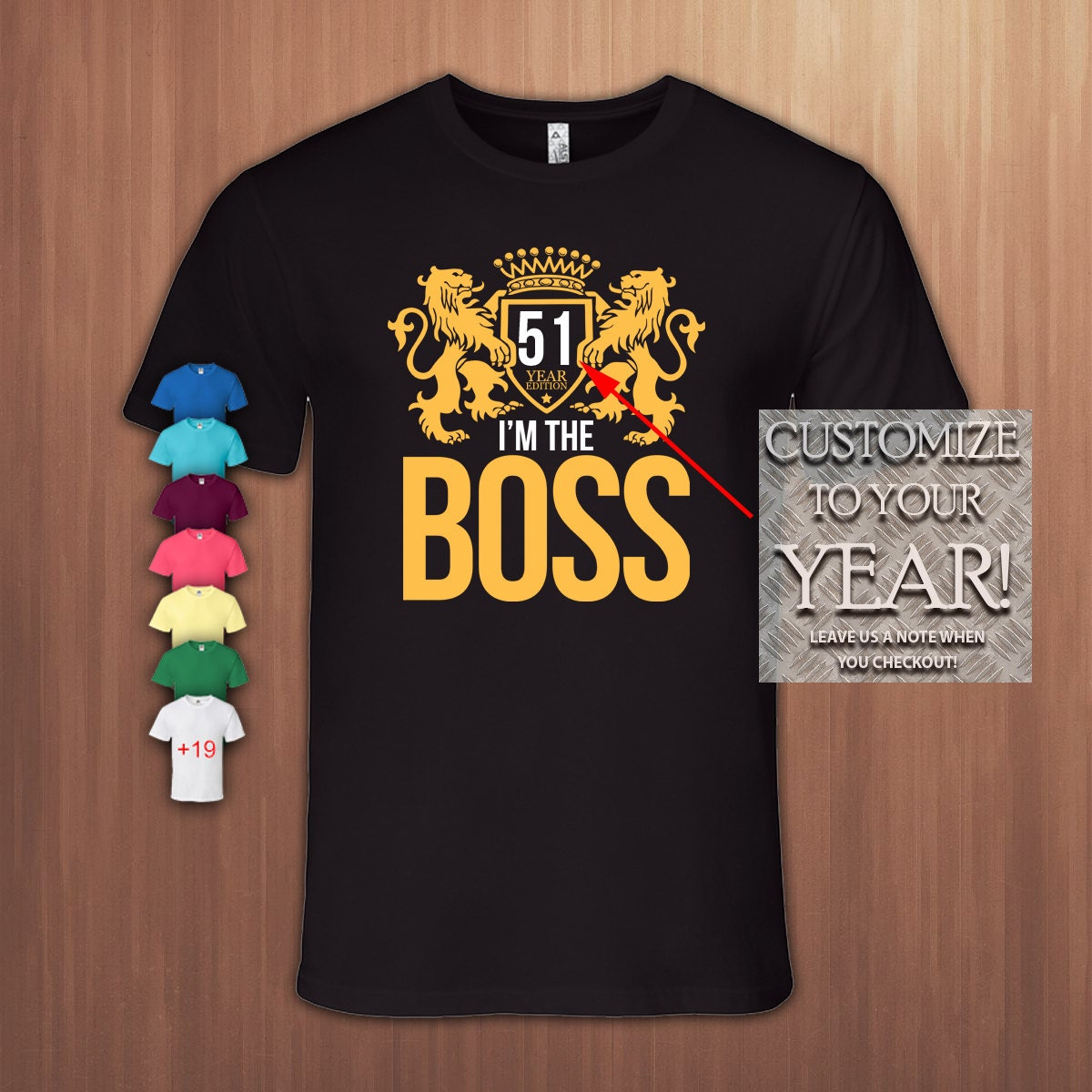 Ich bin der Boss-51 Jahre 51. Geburtstag Geschenk-T-Shirt | Etsy