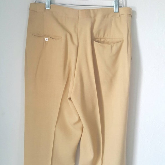 1940s Vintage Yellow Palm Beach Pants With Side C… - image 9