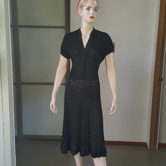 1940s vintage Kimberly sheer knit dress