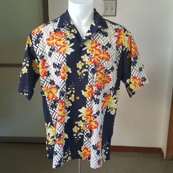Hawaiian Surf orchid border print Hawaiian shirt X