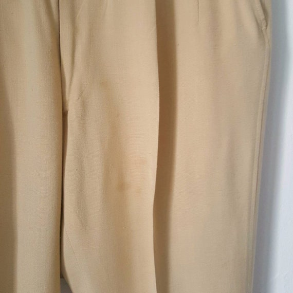 1940s Vintage Yellow Palm Beach Pants With Side C… - image 7