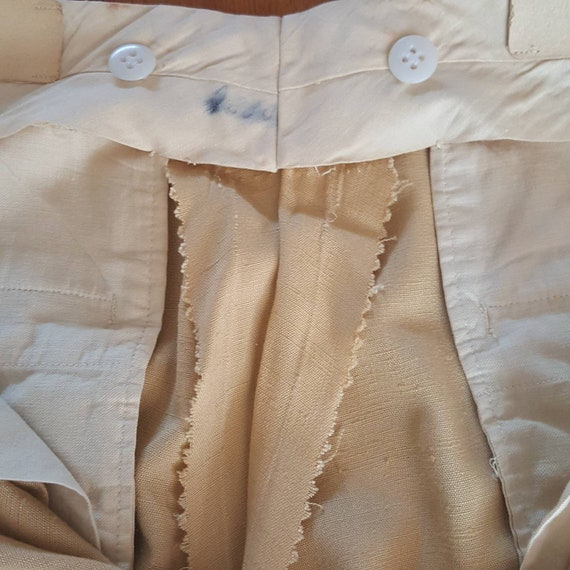 1940s Vintage Yellow Palm Beach Pants With Side C… - image 10