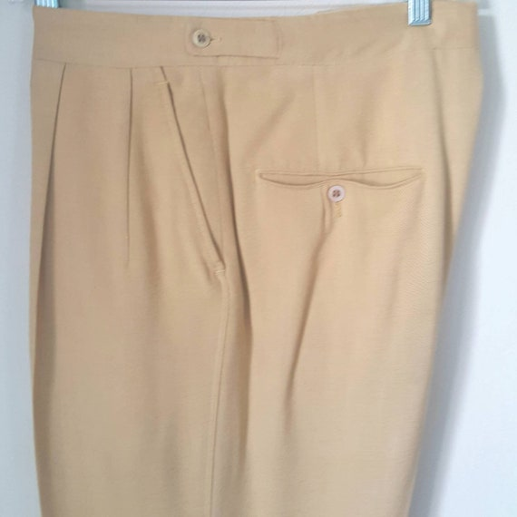 1940s Vintage Yellow Palm Beach Pants With Side C… - image 5