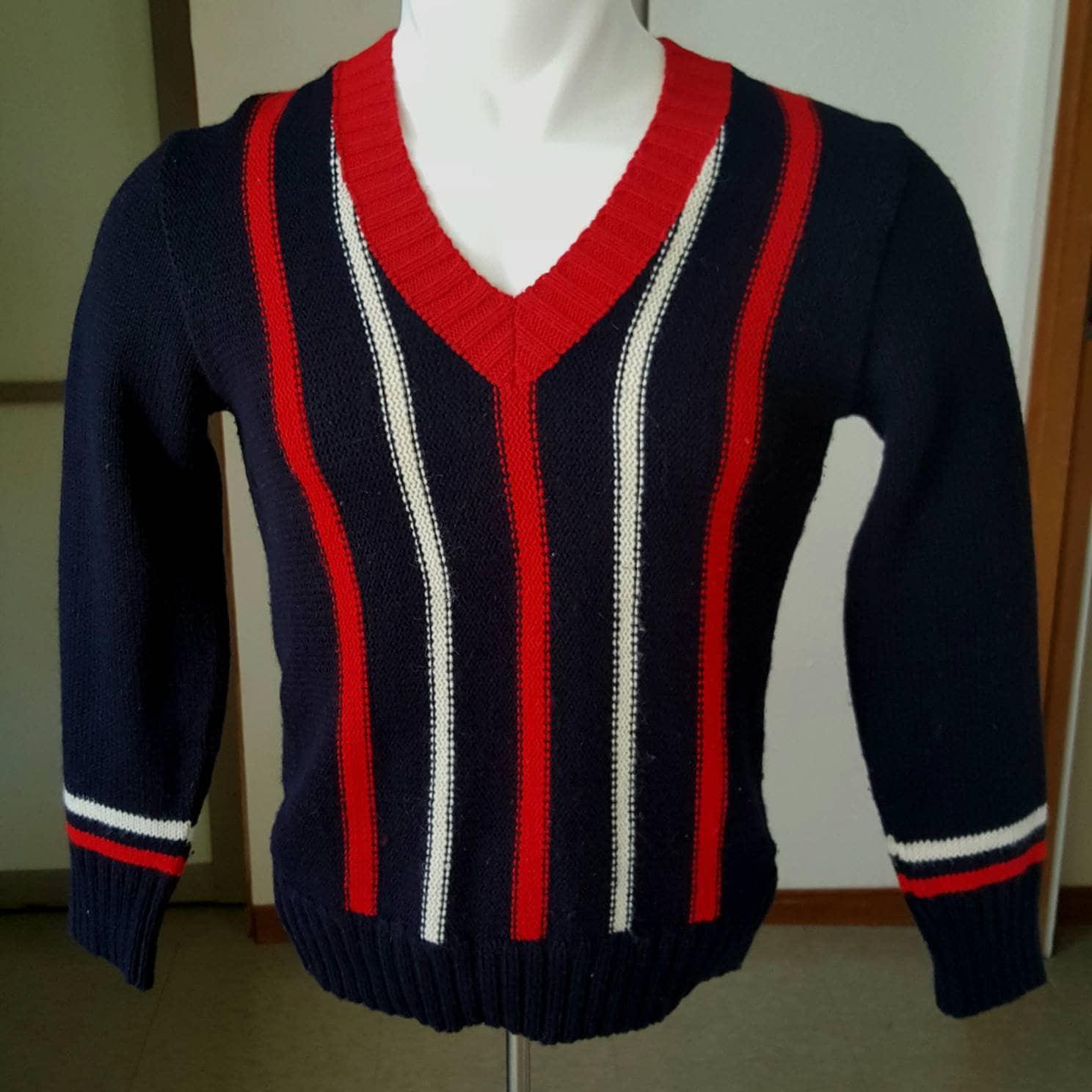 1960s – 70s Men's Ties | Skinny Ties, Slim Ties 1960S Vintage Mens Pullover Sweater With Vertical Stripes M $29.99 AT vintagedancer.com
