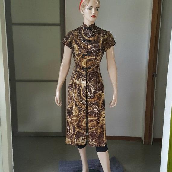 1950s Vintage Royal Hawaiian Tea Timer Dress S