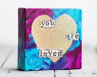 You Are Loved Heart Canvas