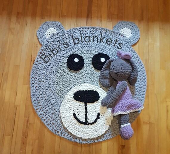 Teddy Bär Häkeln Teppich Kinderzimmer Teppich Lesen Ecke Etsy