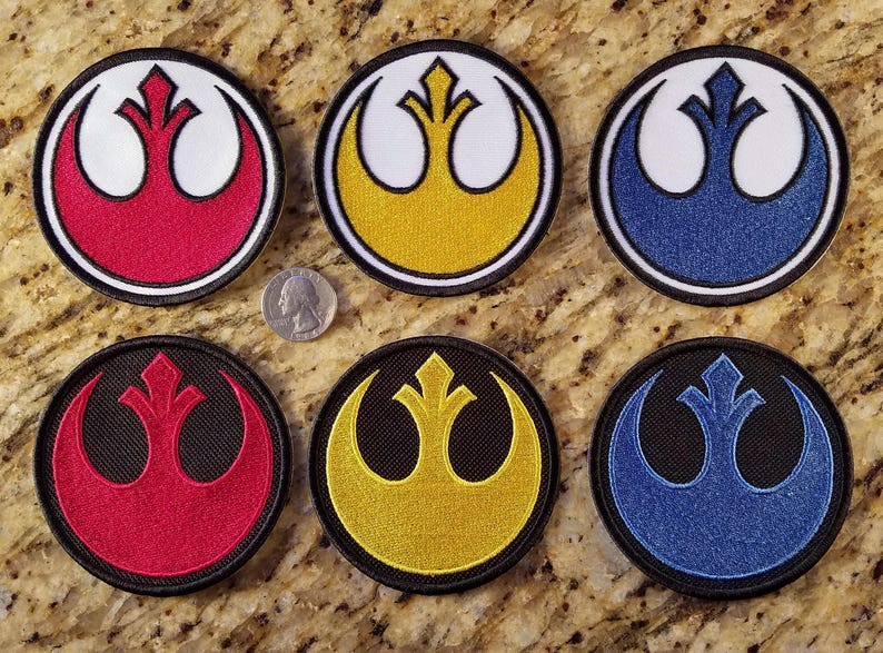8618290090f49 Rebel Alliance Resistance Patches. 3.25 inches diameter. Red