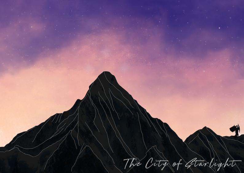 The City of Starlight Velaris Postcard