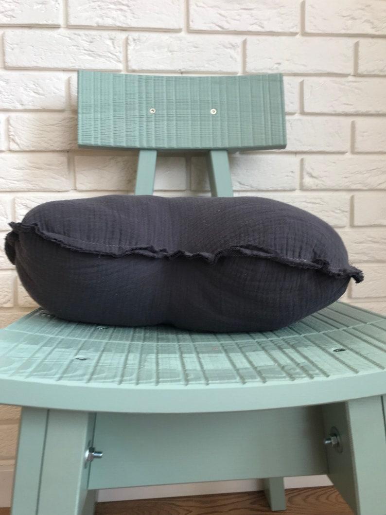 children/'s pillow kids pillow kids room decor decorative pillow baby bedding cushion mint baby star, Grey HEART muslin pillow