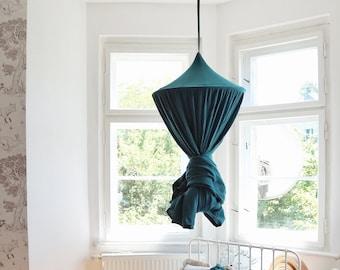 Muslin canopy, Deep blue Canopy, Green Bed Canopy, Crib Canopy,Play room canopy, canopy for nursery, blue canopy bed,baldachin
