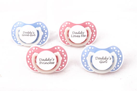 Ddlg Adult Baby Pacifier Abdl Pacifier With Custom Quotes Etsy