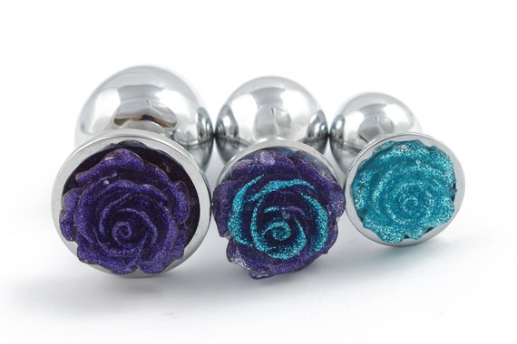 Items Similar To Personalised Rose Flower Butt Plug Set -7241
